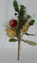 Unbranded 31263 Holiday Ball Christmas Holly Berries Pine Needles Spray image 1