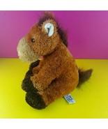 "Russ Berrie Plush Horse Garrick 12"" Stuffed Animal Pony Brown Sitting  - $18.80"
