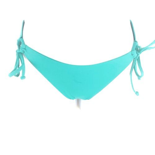 L Space Ella Side Tie Back Ruched Bikini Bottoms Hipster Womens Blue Green XS image 2