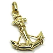 Gelb Gold Anhänger Oder Weiß 750 18K, Anker Marine, 3 CM, Anhänger image 1
