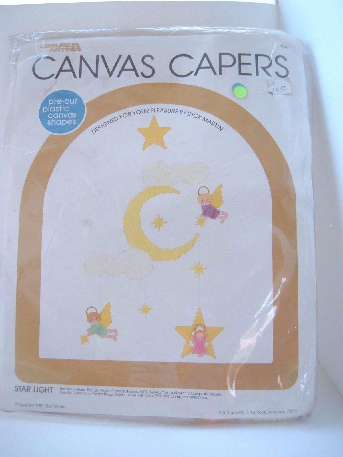 Primary image for STAR LIGHT 1980 Canvas Capers Baby Mobile Plastic Canvas Kit 104 Angel Moon