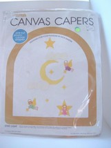 STAR LIGHT 1980 Canvas Capers Baby Mobile Plastic Canvas Kit 104 Angel Moon - $17.79