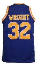 Monica Wright #32 Crenshaw Love And Basketball Jersey New Sewn Blue Any Size image 4