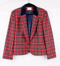 Vintage Pendleton womens coat plaid virgin wool blazer Made in USA size 16 - $19.47