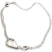Silver 925 Necklace Rolo Chain Polywire Double Drop, Flower, Ball image 1
