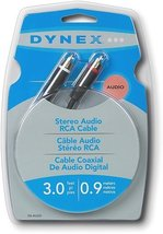 Dynex RCA Stereo Audio Cable - 3ft (0.9M) - $22.58