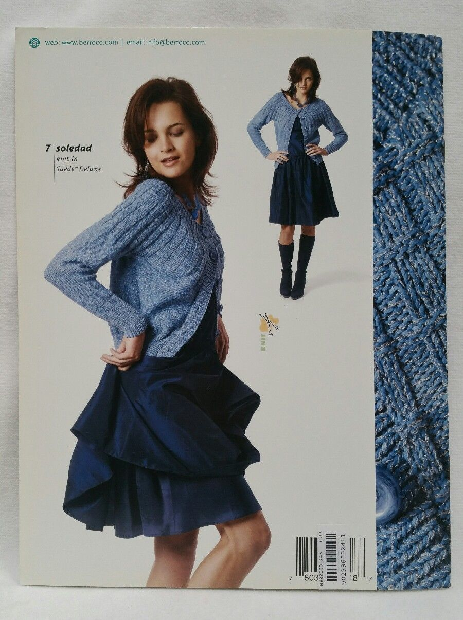 Suede #248 Berroco Knitting Patterns Booklet Fall Winter Collection Retired 2007