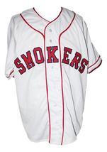 Custom Name # Tampa Smokers Retro Baseball Jersey Button Down White Any Size image 3