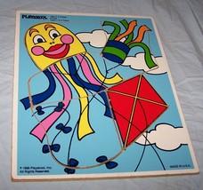 1988 Kites Wooden Playskool  Puzzle-Number 186-17 - $13.10