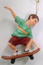 Skateboarding Ornament (Green) - $15.00