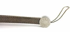 100% Auth HERMES Paris Logos Cell Phone Unisex Strap Beige & Silver Good Cond. - $98.01