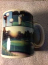 RUSS BERRIE  COFFEE MUG--GOLF / GOLFER / CART / COURSE----FREE SHIPPING-... - $17.27