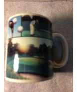 RUSS BERRIE  COFFEE MUG--GOLF / GOLFER / CART / COURSE----FREE SHIPPING-... - $17.27
