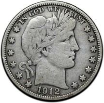 1912D Silver Barber Half Dollar Coin Lot A 357