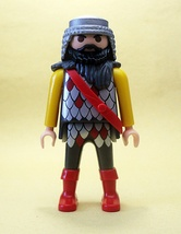 Bearded Playmobil KNIGHT. FREE POSTAGE AND NO HIDDEN COSTS - $3.99