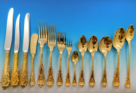 Sir Christopher Gold by Wallace Sterling Silver Flatware Set Vermeil 188 pcs Din