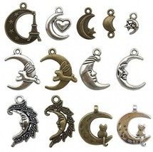 100g(about 70-80pcs) Moon Charms Craft Supplies Charms Pendants For Craf... - $20.37