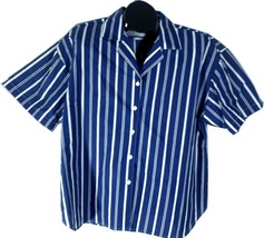 Cabrais Womens Shirt Blue White Striped Plus Size 38/18W, G - $22.95