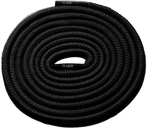 "Primary image for 27"" BLACK 3/16 Round Thick Shoelace For All Football Shoes"