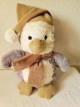 Mty International Penguin Plush Stuffed Animal Grey Tan Gold Hat Scarf S... - $27.23