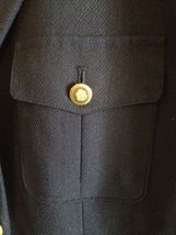 Talbots Navy Wool Blazer Lined Nautical Buttons Professional Career Sz 6 EUC image 5