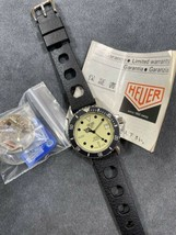 Vintage TAG HEUER 1000 980.113 Lume Dial Submariner Night Diver Style Watch - $949.99