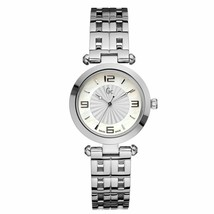 Brand New Guess Collection X17003L1 Silver Tone Women's Watch With Blue Hands - £186.19 GBP