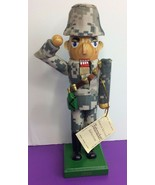 """Army Military Nutcracker Wooden 8"""" Soldier Camouflage 2010 Limited Edition - $11.29"""