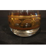 "Set of 4 CULVER  2 1/4"" Roly Poly Glasses Set Coronet Gold - $7.99"