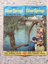 1955 Silver Springs Florida Vintage Travel Brochure Map Attractions FL R... - $20.00