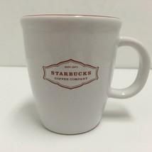 Starbucks 13 oz. Christmas 2006 Coffee Mug Cup White w Red Graphic and Inside. - $12.19
