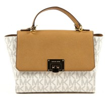 Beige ONE SIZE Michael Kors Womens Handbag TINA 35T7GT4S6B VANILLA ACRN - $340.27