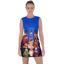 tunic top lace-up short dress blue clubwear muppets muppet show piggie kermit  - $40.00+