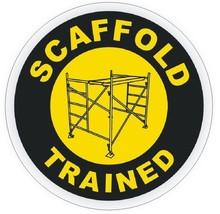 Scaffold Trained Hard Hat Decal Hard Hat Sticker Helmet Safety Label H25 - $1.79+