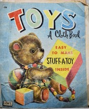 1955 Lowe - Toys - A Cloth Book - James & Jonathan Co OOP #4296 Stuff A Toy - $7.99