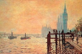 The Thames and Westminster by Claude Monet - Art Print - $19.99+
