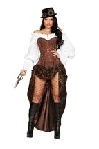 Roma Sexy Machinery Steampunk 6pc Corset Dress Deluxe Costume 4917 - $129.99