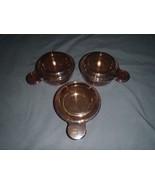 Lot of Corning Ware Grab It Bowls  P-150-B  Lids Glass Amber - $28.04
