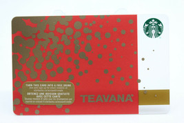 Starbucks Coffee 2015 Gift Card Teavana Gold Orange Lots of Dots Zero Ba... - $12.02