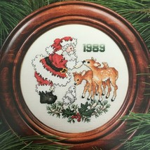 Stoney Creek Santa Christmas Plate Leaflet 24 Counted Cross Stitch Patte... - $4.00