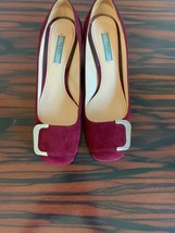 EUC PRADA Suede Wine Purple Pumps 2'' Heel Made in Italy - $188.10