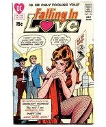 FALLING IN LOVE #124 COMIC BOOK 1971-DC ROMANCE COMICS-GO GO GIRL - $26.48