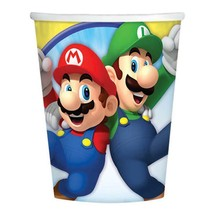Super Mario Brothers 9 oz Paper Cups 8 Per Pack Birthday Party Supplies New - $4.90