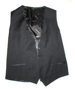 New NWT Mens 38 Vest Designer Italy Dolce & Gabbana Wool Silk Black 48 Nice - $222.50