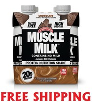 Muscle Milk Protein Shake Chocolate 4 Pack 11 Oz - $14.84