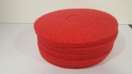 "5 Nilfisk Advance 14"" 356mm Red Floor Buffing Pads  976038 - $17.85"
