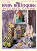 More Baby Boutiques Plastic Canvas  Dick Martin Leaflet 1705 Giraffe Tissue Box - $7.95