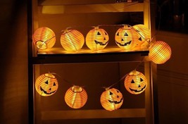 Pumpkin Halloween Party Home Outdoor Decoration 10pcs LED String Fairy L... - $10.24 CAD