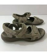 CLARKS Morse Tour Adjustable Tan Leather Comfort Sandals Womens Sz 8.5 M - $49.45