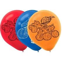 "Blaze Birthday Party Latex 12"" Balloons 6 Ct Truck - $5.24 CAD"